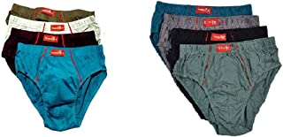 VIP Frenchie Plus Men's Cotton Brief (Assorted, 100 cm) - Pack of 8