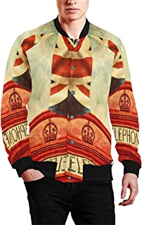 Men's Jacket Long Sleeve Zipper Classic Slim Fit Outwear