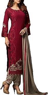 Ziya Indian/Pakistani Ethnic wear Georgette Straight Salwar Kameez