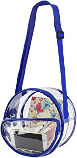 Magicbags Round Clear Messenger Bag,NFL,NCAA & PGA Stadium Approved Clear Purse with Adjustable Strap
