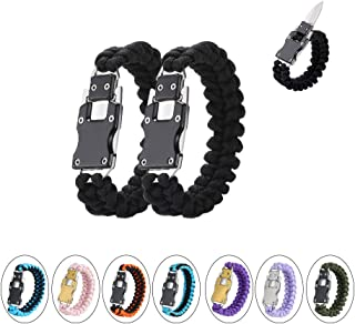 WEREWOLVES Paracord Knife Bracelet Survival Cord Bracelets, Emergency Tactical EDC Paracord Bracelet,Survival Gear Kit for...