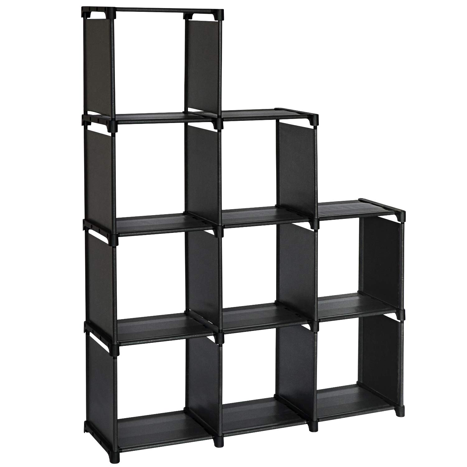 Amazon Com Topnew 9 Cube Storage Shelves Diy Closet Organizers And Storage Black Cube Bookcase In Living Room Bedroom Kid S Room For Books Clothes Toys Shoes And Daily Necessities Kitchen Dining