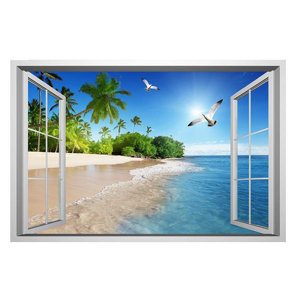 Amazon Co Jp Wlhbh 2 Pcs ウォールステッカー 海 壁紙ポスター ウォールステッカー おしゃれ 風景 ウォールアート 壁紙シール 壁に貼るシール 風景画 Home Kitchen