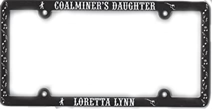 Loretta Lynn The Coal Miner's Daughter License Plate Frame Black