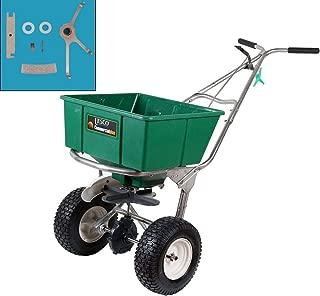 Lesco 101186 High Wheel Walk-Behind Fertilizer Spreader with T422400 Permagreen Agitator Kit (Bundle, 2 Items)
