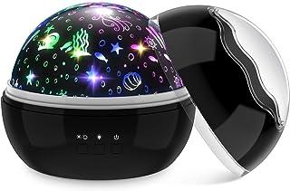 Dreamingbox Proyector Estrellas Luz de Noche Bebé - Rotación de 360° / USB o De Pilas - Regalos para Niños