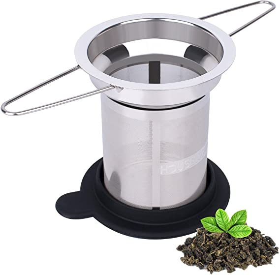 House Again Extra Fine Mesh Tea Infuser - Fits Standard Cups Mugs Teapots - Perfect Stainless Steel Filter for Brewing Steeping Loose Tea