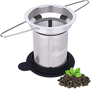 House Again Extra Fine Mesh Tea Infuser - Fits Standard Cups Mugs Teapots - Perfect Stainless Steel Filter for Brewing Steeping Loose Tea, Travel Ready (Extra Fine Mesh)