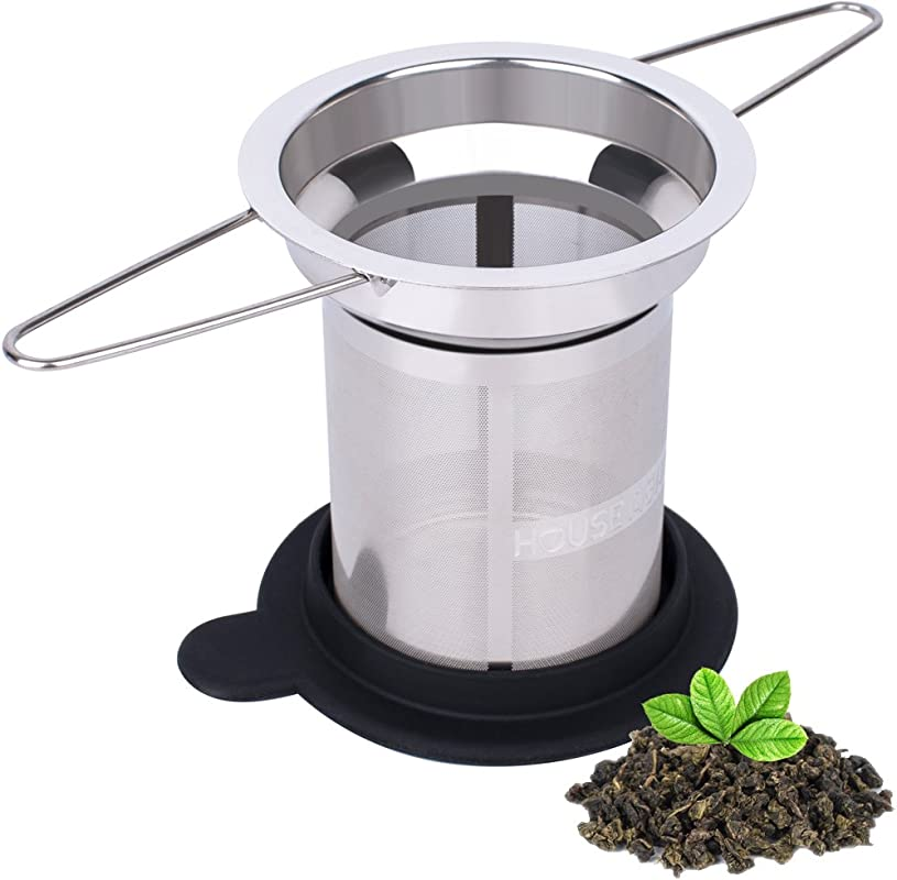 House Again Extra Fine Mesh Tea Infuser Fits Standard Cups Mugs Teapots Perfect Stainless Steel Filter For Brewing Steeping Loose Tea Travel Ready Extra Fine Mesh