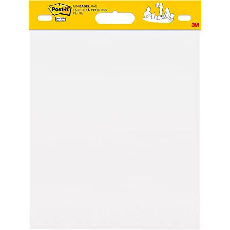 Post-it Super Sticky Mini Easel Pad, 15 x 18 Inches, 20 Sheets/Pad, 6 Pads, White Premium Self Stick Flip Chart Paper, Great for Virtual Teachers and Students (577SS)