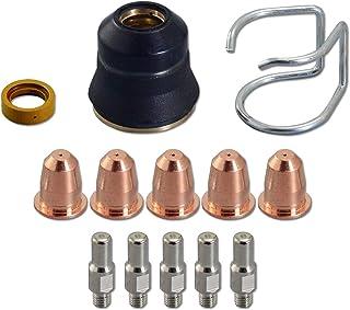 13pcs Antorcha Cortadora de Plasma S25 S45 Accesorios Kit PR0110 Electrodos PD0116-08 Boquilla Guía