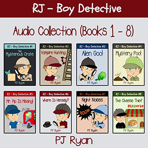 RJ - Boy Detective Books 1-8: Fun Short Story Mysteries audiobook cover art