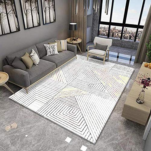 Anti-Slip Thick Carpet, Home Living Room Coffee Table Foot Mat, Modern And Simple, Large Area, Bedroom Blankets Can Be Washed