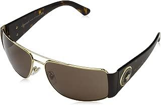Versace VE2163 Sunglasses-100273 Gold (Brown Lens)-63mm