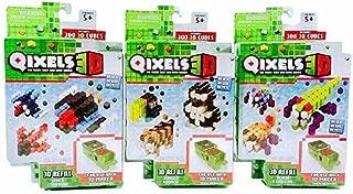 Qixels 3D Refill Bundle Includes 3 packs - Alien Strikes, Jungle World, Space Command
