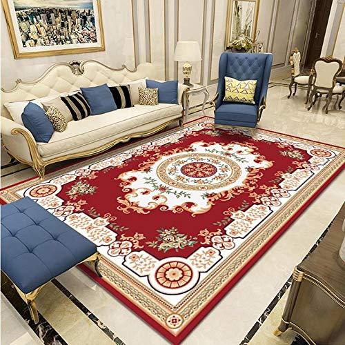 SHJIA Rutschfester Dicker Waschbarer Teppich, Haushalt Einfache Chinesische Art Wohnzimmer Couchtisch Kissen Schlafzimmer Nachttisch Kissen Großflächigen Teppich