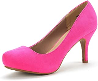 Pink Pumps Low Heel