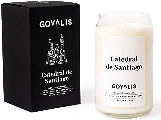 Vela Aromática Catedral de Santiago   Cera de Soja 100% Natural   100 horas, Vela Perfumada Grande en Vaso, Viajes Recuerd...