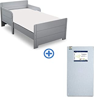 Delta Children MySize Toddler Bed + Serta Perfect Start Mattress, Grey