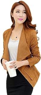 Women's Long Sleeve Slim Fitted Casual Work Plain Suit Jacket Blazer
