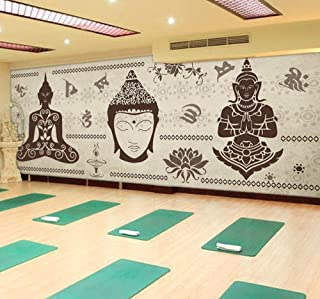 Mural Custom Wall Mural India Style Wallpaper Living Room Yoga Hall Stadium Dining Room Bedroom Background Wallpaper Mural-120X100Cm
