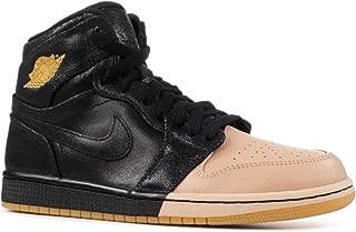Air Jordan 1 Ret Hi Prem 'Dipped Toe' Womens -Ah7389-007 - Size W11.5 Black, Metallic Gold