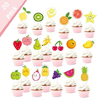 fruit cupcake toppers