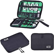 کیسه ذخیره سازی الکترونیکی ، کیسه ذخیره سازی کابل داده جمع و جور ، جعبه ذخیره سازی گیره کابل قابل حمل ، شارژر SD/USB تلفن همراه و سایر کیف های ذخیره لوازم جانبی محصولات الکترونیکی (مشکی)