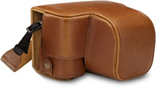 MegaGear MG1653 Ever Ready - Funda de Piel para cámara Sony Alpha A6100 A6400 (16 a 50 mm) Color marrón Claro