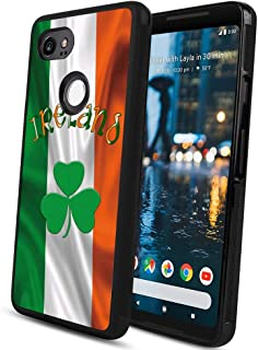Flag Ireland Google Pixel 2 XL case Protective Square Phone Shockproof Black TPU Silicone case for Google Pixel 2 XL