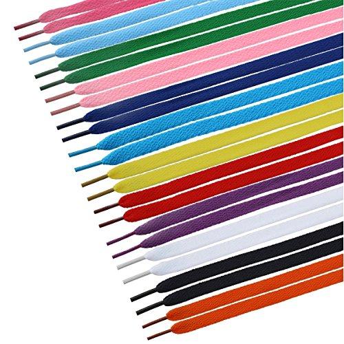 Tinksky 12 Pares Cordones Zapatos Planos Cuerdas Zapatillas (Colores Mezclados)