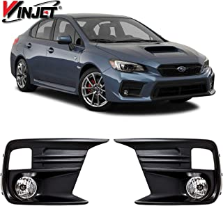 Winjet WJ30-0629-09 Replacement for 2018-2019 Subaru WRX Front Clear Fog Light Pair Wiring Kit Inculded