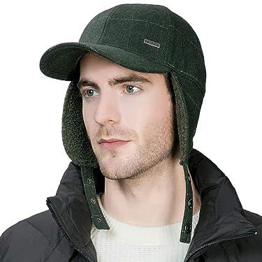 Jeff & Aimy Unisex Wool Blend Winter Elmer Fudd Earflap Trapper Hunting Ski Outdoor Hat