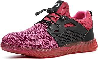 Ulogu Chaussure de Sécurité Homme Légère Baskets de Sécurité Femme Respirant Chaussure de Travail en Acier Toe