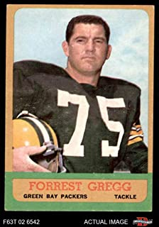 1963 Topps Football 89 Forrest Gregg Excellent (5 out of 10) by Mickeys Cards