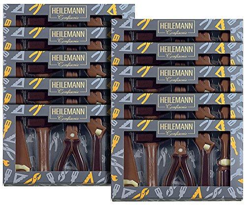 10er SET Schokolade Werkzeug Geschenkpackung Edelvollmilch 100 g