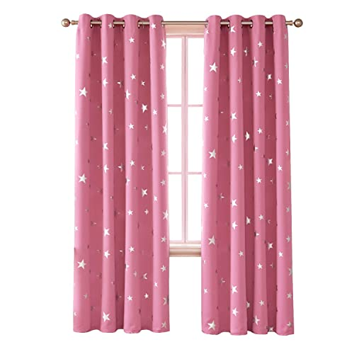 Pink Blackout Curtains Amazon Co Uk