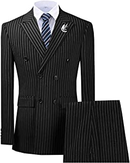 pinstripe suit wedding