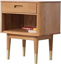 Bedroom Furniture Oak Solid Wood Nightstand Bedside Table Chevet Cabinet Bedroom Bedside Table 50 * 35 * 58cm Ztoyby. (Col...