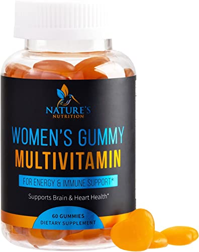 discount Women's new arrival Multivitamin Gummies - Formula Includes Vitamins A, C, B6, B12, D & E for Whole Body Health popular and Immune Support Plus Calcium, Biotin and Folic Acid for Hair and Skin, Peach Gummy - 60 Gummies outlet sale