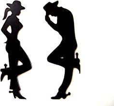 Plastic Cowgirl and Cowboy Wall Decor Western Art Silhouettes
