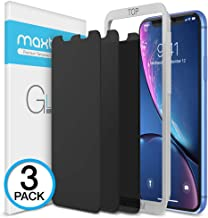 "Maxboost 3 Pack Privacy Screen Protector Compatible with iPhone XR and iPhone 11 (6.1"") Tempered Glass Screen Protector [0.33mm] Advance Protection/Work with Most Case - 3 Pack"