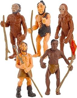 Bbiamsleep 5 Pcs The Ape-Man Evolutionary Stage Ornaments Caveman Figurine Primitive Model Human Figure Science and Educat...
