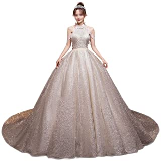 Brudklänning lyxig ädelsvans superfe fantasi stjärnhimmel unik rygg bröllopsklänning cocktailparty kvällsklänning, LIFU