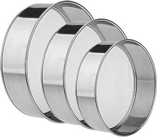 "Szxc Super Fine Mesh Flour Sifter - 3Pcs - (6""/40 mesh + 8""/60 mesh + 10""/40 mesh) - Stainless Steel - BPA Free - Powdered..."