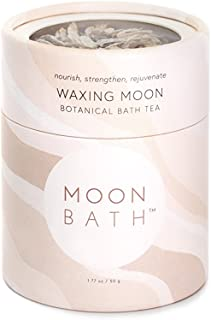 Waxing Moon Botanical Bath Tea | Herbal Ayurvedic Bath Soak for Strength & Vitality w/Cacao, Cardamom & Chrysanthemum. Organic & Natural Body Care. Build Kapha Dosha. Loose Leaf Flowers. 8 fl oz