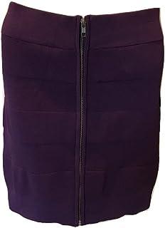 French Connection Women's Dani Crepe Bandage Mini Skirt Satelite Purple 12