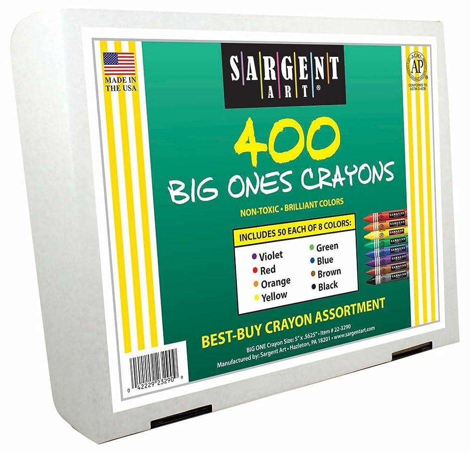 Sargent Art 400-Count Big Ones Crayon Class Pack, Best Buy Assortment, 22-3290