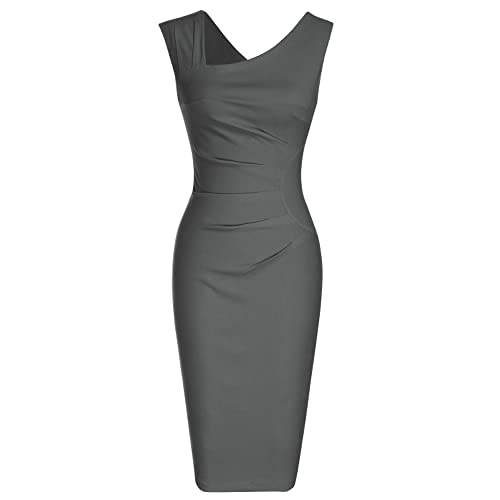 7c7dde579a61 MUXXN Women s Retro 1950s Style Sleeveless Slim Business Pencil Dress