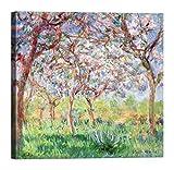 LuxHomeDecor Quadro Stampa su Tela con Telaio in Legno Claude Monet Primavera 40x40 CM
